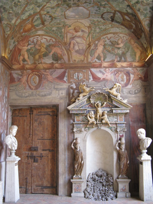 Loggia at the Palazzo Altemps, Rome.
