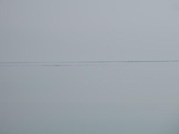 Dead Sea and horizon, 7 December 2011