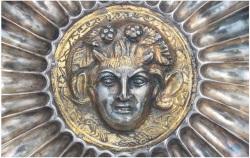 Lot 330. A ROMAN PARCEL GILT SILVER FLUTED BOWL CIRCA 3RD CENTURY A.D.