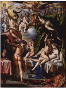Joachim Wtewael. Mars and Venus Surprised by Vulcan, 1601. Mauritshuis, The Hague.