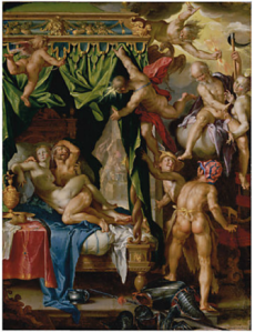 Joachim Wtewael, Mars and Venus Surprised by Vulcan, c.1606-1610. The J. Paul Getty Museum, Los Angeles.