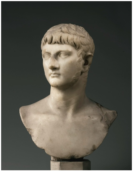 Lot 30. PROPERTY OF THE EARL OF ELGIN AND KINCARDINEA MARBLE PORTRAIT BUST OF GERMANICUS, ROMAN IMPERIAL, JULIO-CLAUDIAN, PROBABLY REIGN OF CALIGULA OR SLIGHTLY LATER, CIRCA A.D.37-45, Estimate: 3,000,000 - 5,000,000 USD  the general turned to his right, his youthful face with strong chin, aquiline nose, and large eyes beneath the wide brow, his unruly wavy hair falling in deeply drilled locks over the forehead, the long sideburns extending down to his broad square jaw. Height 20 1/4 in. 51.5 cm.