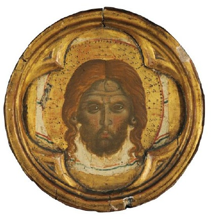 Lot 101. Paolo VenezianoThe Veil of Saint Veronica tempera and gold on panel 8 ½ in (21.7 cm.), circular Estimate: $300,000-500,000