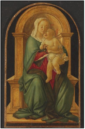 Sandro BotticelliThe Madonna and Child with a pomegranate tempera and oil on panel 29 x 17 in. (73.7 x 43.2 cm.) Estimate: $3-5 million