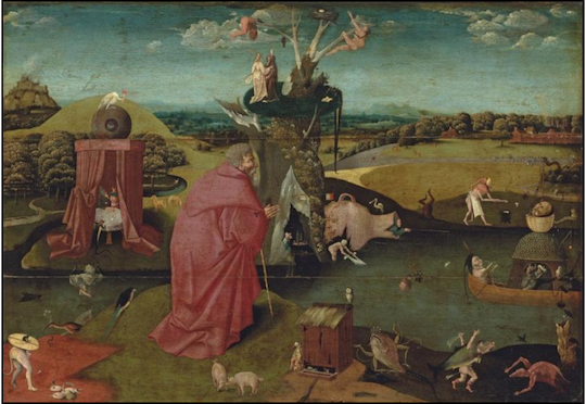 Follower of Hieronymus Bosch, The Temptation of Saint Anthony.Estimate: $400,000-600,000