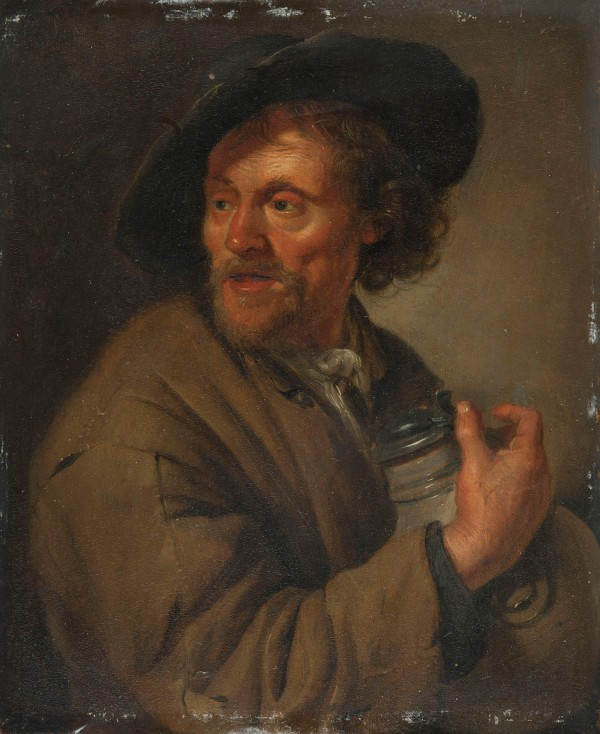 NM7126, Jacob Toorenvliet, Man Holding a Jug (Taste), c.a. 1697.