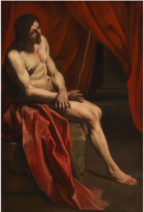 Lot 41. GIANLORENZO BERNININAPLES 1598 - 1680 ROME CHRIST MOCKED oil on canvas 57 7/8  by 39 1/8  in.; 147 by 99.5 cm. Estimate: $400,000-600,000
