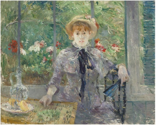 Lot 11. Berthe Morisot (1841-1895) Après le déjeuner  signed 'Berthe Morisot' (lower right)  oil on canvas  Estimate: £1,500,000 - £2,500,000