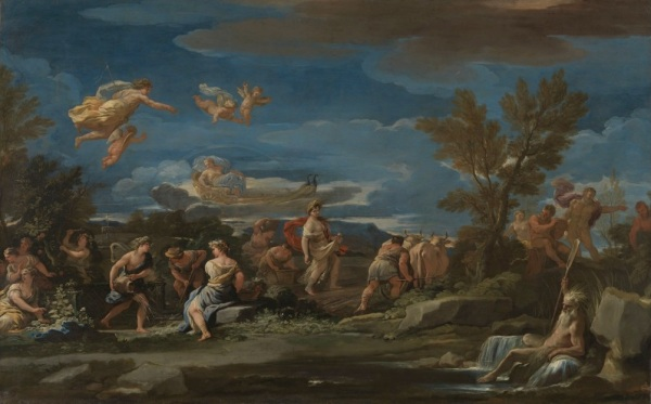 Mythological Scene of Agriculture, early 1680s.Oil on canvas Dimensions: 121.4 x 193cm.