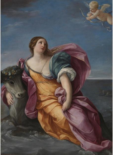 Guido Reni, The Rape of Europa, 1637-1639. Oil on canvas Dimensions: 177 x 129.5cm.