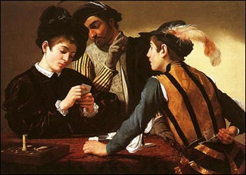 The newly-discovered version of The Card Sharps by Caravaggio, was bought for just £50,400 last December