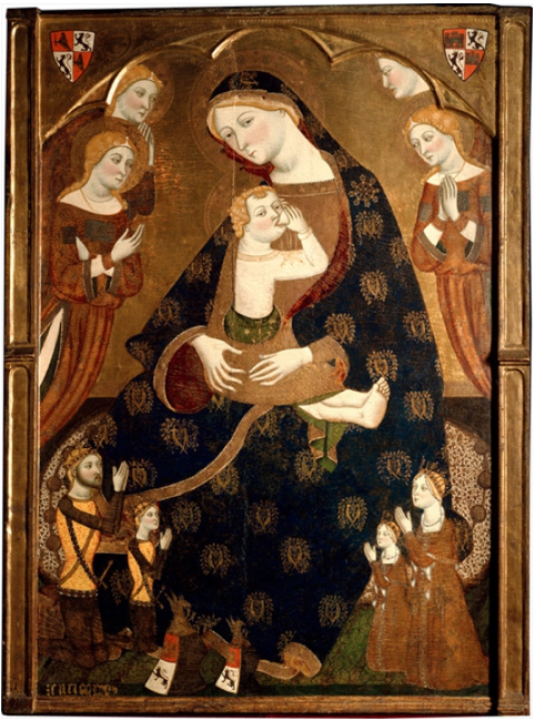 The Virgin of Tobed, Jaume Serra. Tempera on panel, 161.4 x 117.8 x 14 cm, 1359, Madrid, Museo Nacional del Prado. Várez Fisa Donation.
