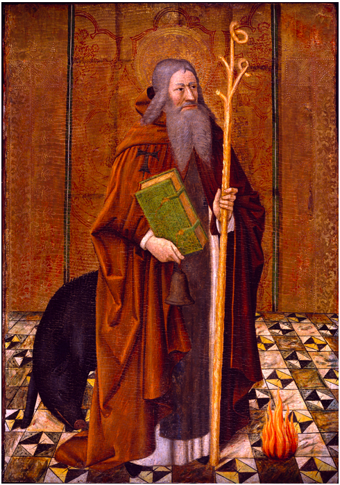 Saint Anthony AbbotJoan Reixach Tempera on panel, 105 x 77.4 x 5.8 cm 1440 - 1450