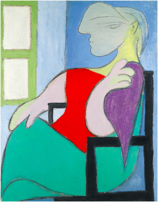 Sotheby's, Lot 12. PABLO PICASSO1881 - 1973 FEMME ASSISE PRÈS D'UNE FENÊTRE dated Boisgeloup 30 Octobre XXXII on a piece of the original stretcher affixed to the stretcher oil on canvas: 146 by 114cm, 57 1/2 by 44 7/8 in. Painted in Boisgeloup on 30th October 1932. Estimate: 25-35 million