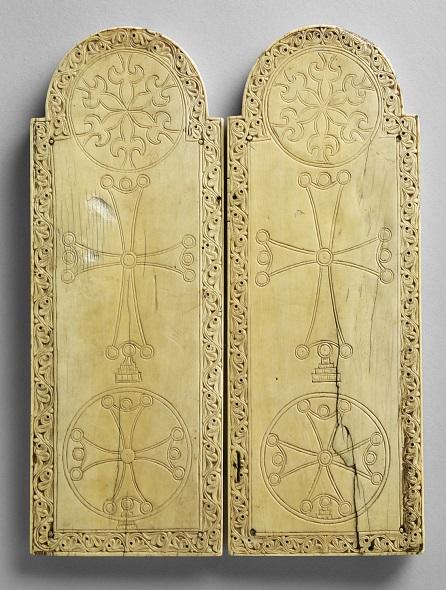 Revers du diptyque Constantinople, XIIIe siècle  Ivoire - 29 x 21,6 x 1,1cm Paris, Musée du Louvre Photo : 2013 Musée du Louvre/ Thierry Ollivier