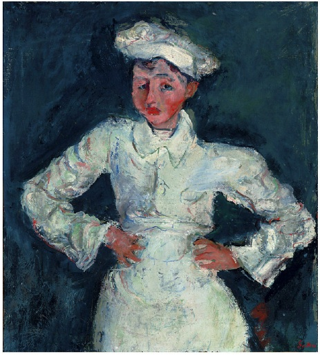Lot 21. Chaim Soutine (1893-1943)  Le petit pâtissier  signed 'Soutine' (lower right)  oil on canvas  30 1/8 x 27 1/8 in. (76.5 x 68.9 cm.)  Painted circa 1927  Estimate: $16,000,000 – $22,000,000