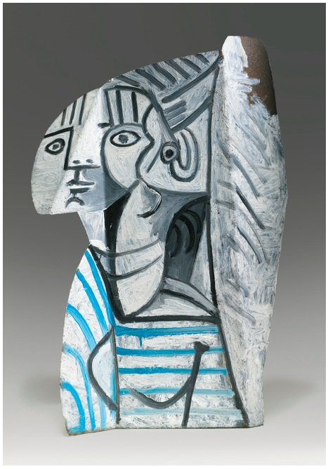 Lot 31. PABLO PICASSO 1881 - 1973 SYLVETTE Painted metal: Height: 27 1/2 in. 70 cm Executed in 1954. Estimate: $12-18 million.