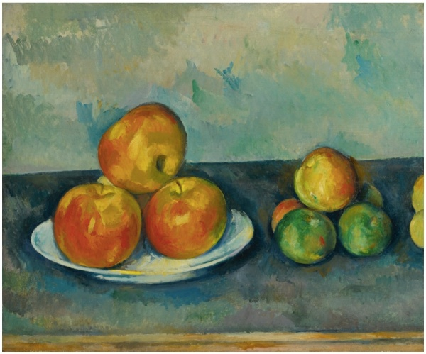 Lot 7. PAUL CÉZANNE 1839 - 1906 LES POMMES Oil on canvas: 15 1/8 by 18 1/8 in. 38.5 by 46 cm Painted in 1889-90 Estimate: $25-35 million.