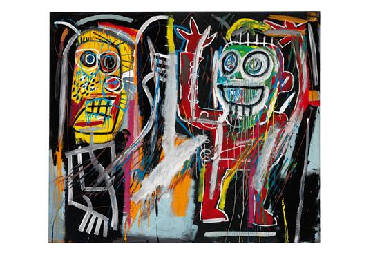 """Jean Michel Basquait, """"Dustheads""""(c) 2013 The Estate of Jean-Michel Basquiat/ ADAGP, Paris/ ARS, New York"""