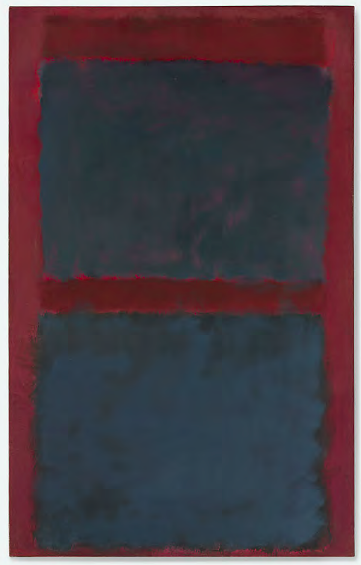 Lot 55. Mark Rothko (1903-1970)  Untitled (Black on Maroon)  signed and dated 'MARK ROTHKO 1958' (on the reverse)  oil on canvas  72 x 45 in. (182.8 x 114.3 cm.)  Painted in 1958.  Estimate: $15-20 million.