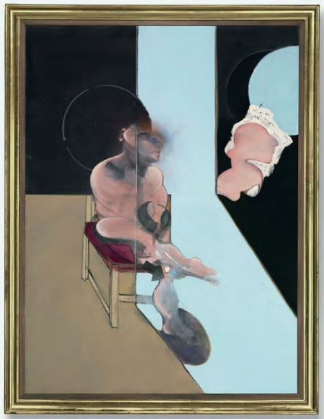Lot 46. Francis Bacon (1909-1992)  Study for Portrait  signed, titled and dated 'Study for Portrait 1981 Francis Bacon' (on the reverse) oil on canvas  78 1/8 x 58 1/8 in. (198.4 x 147.6 cm.)  Painted in 1981. Estimate: $18-25 million.