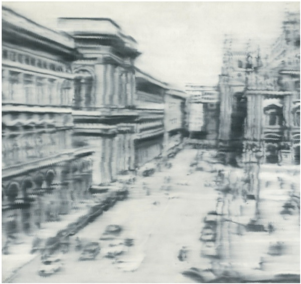 Lot 20. GERHARD RICHTER B.1932 DOMPLATZ, MAILAND [CATHEDRAL SQUARE, MILAN] oil on canvas 108 x 114 in. 275 x 290 cm. Executed in 1968. Estimate: $30-40 million.