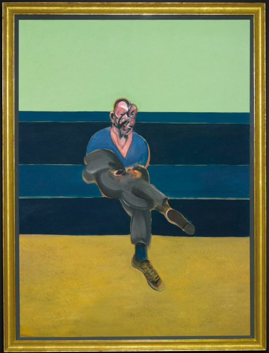 Lot 23. FRANCIS BACON 1909 - 1992 STUDY FOR PORTRAIT OF P.L. titled and dated 1962 on the reverse oil on canvas 78 x 57 in. 198 x 144.8 cm. Estimate: $30-40 million.