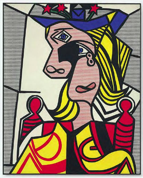 Lot 34. Roy Lichtenstein (1923-1997)  Woman with Flowered Hat  signed and dated 'rf Lichtenstein '63' (on the reverse)  Magna on canvas  50 1/8 x 40¼ in. (127.3 x 102.2 cm.)  Painted in 1963.  Estimate on Request (approximately $30 million).