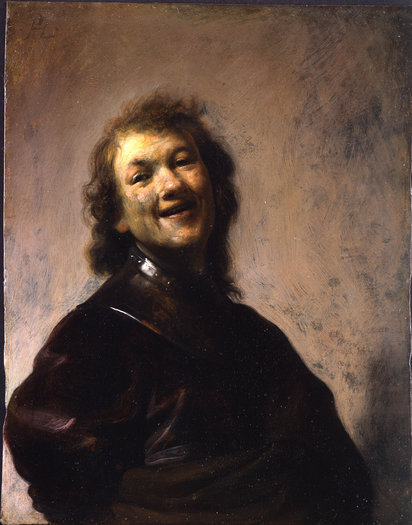 The Getty's newest purchase: 'Rembrandt Laughing' by Rembrandt Harmensz. van Rijn, oil on copper, 8 3/4 x 6 5/8 inches. (J. Paul Getty Museum, Los Angeles / May 9, 2013)