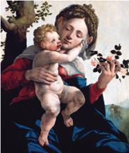 Madonna and Child with Wild Roses by Jan van Scorel