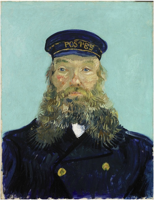 Vincent van Gogh (1853-1890), Portrait of Postman Roulin, 1888. Oil on canvas: 25 1/4 x 18 7/8 in. (64.1 x 47.9 cm) Gift of Mr. and Mrs. Walter Buhl Ford II Photo ©2013, Detroit Institute of Arts