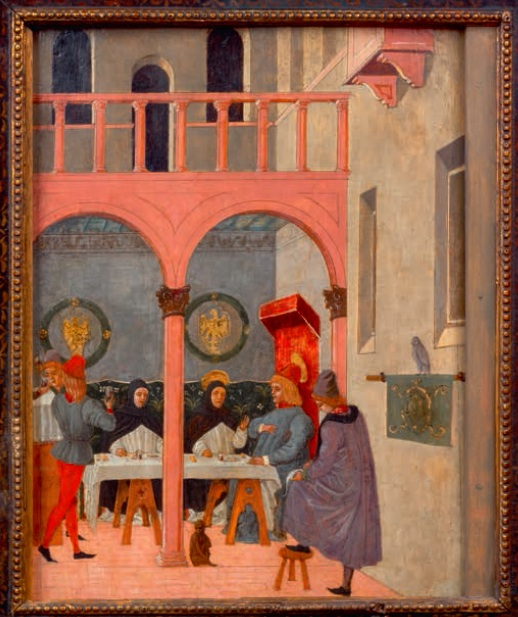 "Lot 22. ""St. Thomas Aquinas at the table of King St. Louis."""