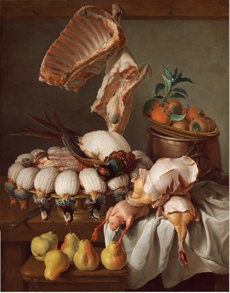 François Desportes (1661-1743) Still-life with partridges, pheasants, racks  of lamb and William's pears, 1734 Oil on Canvas - 121 x 95 cm Washington, National Gallery of Art