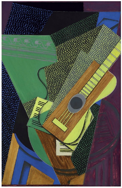 Lot 11. Juan Gris (1887-1927)  Guitare sur une table  signed and dated 'Juan Gris 1-1916' (lower left)  oil on canvas  36¼ x 23 3/8 in. (92.1 x 59.4 cm.)  Painted in January 1916  Estimate: $10 - 15 million.