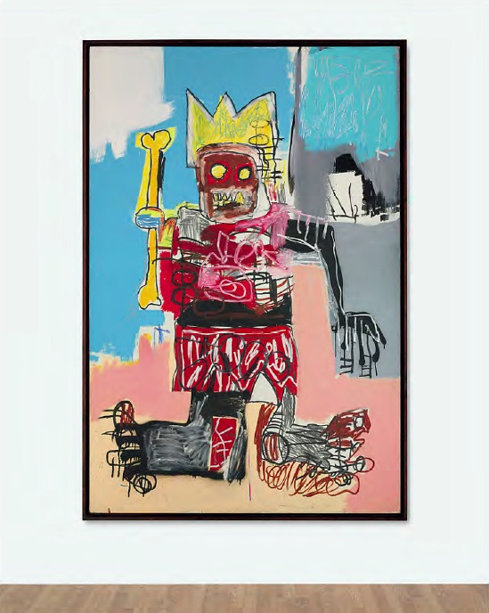 Lot 15. Jean-Michel Basquiat (1960-1988)  Untitled  acrylic and oilstick on wood panel  72 x 48 in. (182.8 x 121.9 cm.)  Painted in 1982.  Estimate: $25-35 million.