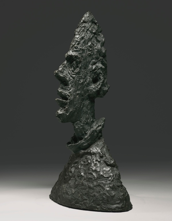 Lot 15. ALBERTO GIACOMETTI 1901 - 1966 GRANDE TÊTE MINCE (GRANDE TÊTE DE DIEGO) Inscribed with the signature Alberto Giacometti, with the foundry mark Susse Fondeur Paris and numbered 6/6 Bronze, Height: 25 1/2 in., 65 cm Conceived in 1954 and cast in bronze in 1955. Estimate: $35 - 50 Million.