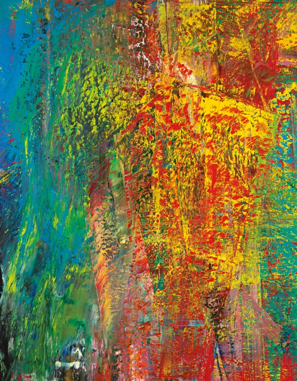 Lot 22. GERHARD RICHTER, B.1932 A.B. COURBET signed, dated 1986 and numbered 616 on the reverse oil on canvas: 118 1/8 x 98 3/8 in. 300 x 250 cm. Estimate: $15-20 million.