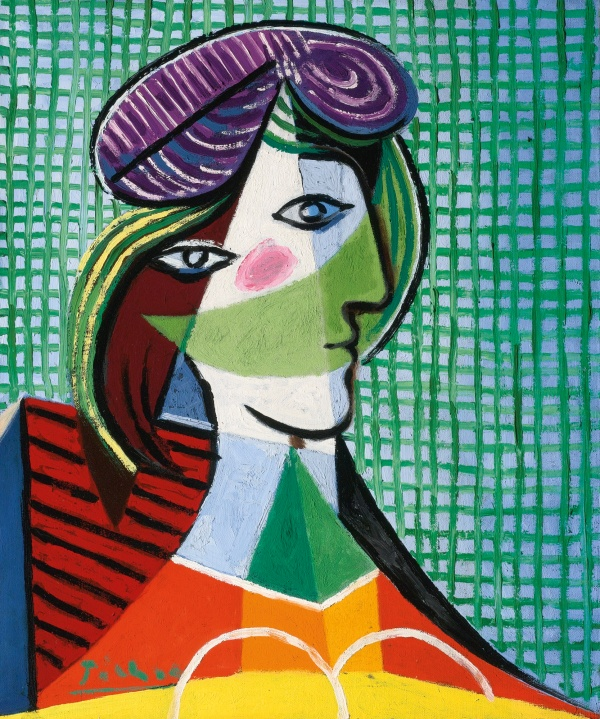 Lot 22. PABLO PICASSO, 1881 - 1973 TÊTE DE FEMME, Signed Picasso (lower left) Oil on canvas: 25 5/8 by 21 3/8 in., 65 by 54 cm Painted on March 12, 1935. Estimate: $20 - 30 million.