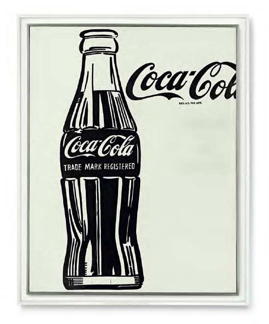 Lot 27. Andy Warhol (1928-1987)  Coca-Cola [3]  signed 'Andy Warhol' (on the turning edge)  casein on cotton  69 3/8 x 54 in. (176.2 x 137.2 cm.)  Painted in 1962.  Estimate: $40-60 million.