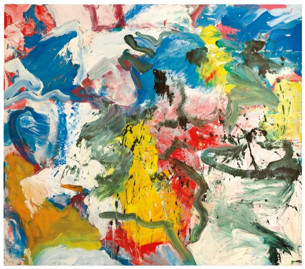 Lot 30. WILLEM DE KOONING 1904-1997 UNTITLED V signed on the reverse oil on canvas 70 x 80 in. 177.8 x 203.2 cm. Executed in 1975.  Estimate: $25-35 million.