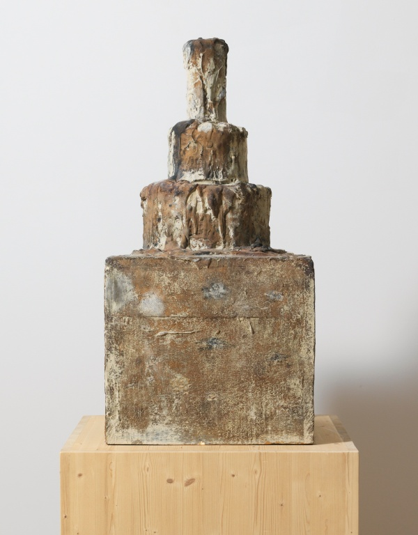 Lot 33. CY TWOMBLY, 1928 - 2011, UNTITLED (THE MATHEMATICAL DREAM OF ASHURBANIPAL) initialed CT, numbered 2/3 and inscribed Gerbrüder Jäger, Pfäffikon SZ bronze: 41 1/2 x 20 3/4 x 20 3/4 in. 105.5 x 52.7 x 52.7 cm. Executed in 2009, this work is number two from an edition of three. Estimate: $2-3 million.