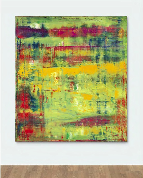 Lot 35. Gerhard Richter (b. 1932)  Abstraktes Bild (809-1)  signed, numbered and dated '809-1 Richter 1994' (on the reverse); numbered again '809-1' (on the turning edge) oil on canvas  88¾ x 78 7/8 in. (225 x 200 cm.)  Painted in 1994.  Estimate: In the region of $25 million.