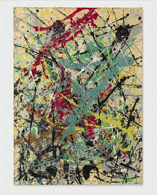 Lot 39. Jackson Pollock (1912-1956)  Number 16, 1949  signed and dated 'Jackson Pollock 49' (lower edge)  oil and enamel on paper mounted on masonite  30¾ x 22¼ in. (78.1 x 56.5 cm.)  Painted in 1949.  Estimate: $25-35 million.
