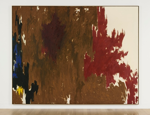 Lot 44. CLYFFORD STILL, 1904 - 1980, 1960-F signed Clyfford, titled and dated 1960-F on the reverse oil on canvas: 112 x 144 1/2 in. 285.5 x 367 cm. Estimate: $15-20 million.