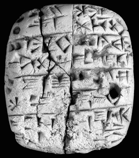 One of the 10,000 ancient tablets Cornell University has agreed to return to Iraq. They were donated by the family of antiquities collector Jonathan Rosen. (Elizabeth Stone / February 1, 2011)