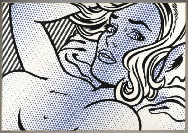Lot 34. Roy Lichtenstein (1923-1997)  Seductive Girl  signed and dated 'rf Lichtenstein '96' (on the reverse)  oil and Magna on canvas : 50 x 72 in. (127 x 182.8 cm.)  Painted in 1996. Estimate: $22 - 28 million.