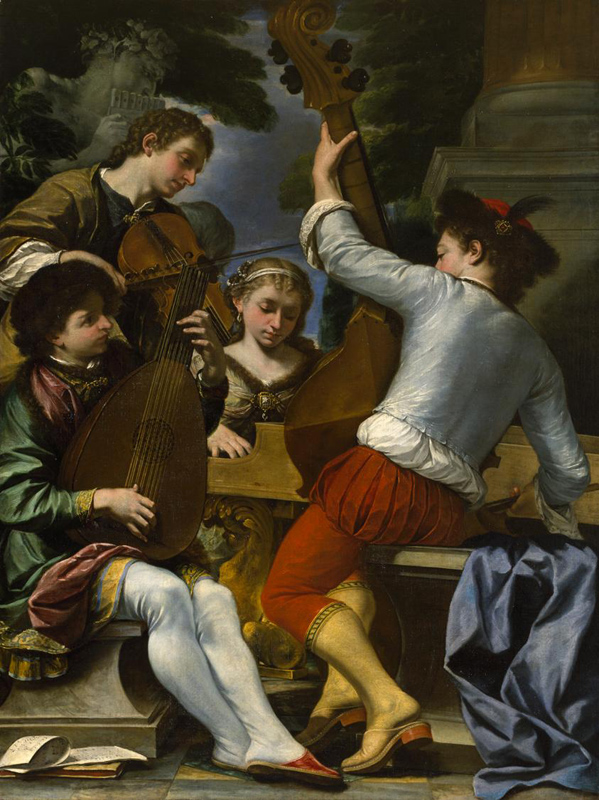 Giovanni The Musical Group Oil on canvas: 78 1/4 x 58 3/8 in. (198.8 x 148.3 cm)