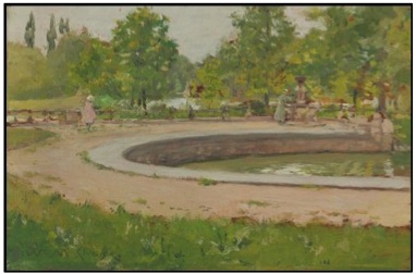 William Merrit Chase, A Water Fountain in Prospect Park, 1886-1887. Estimate: $700,000-1,000,000.