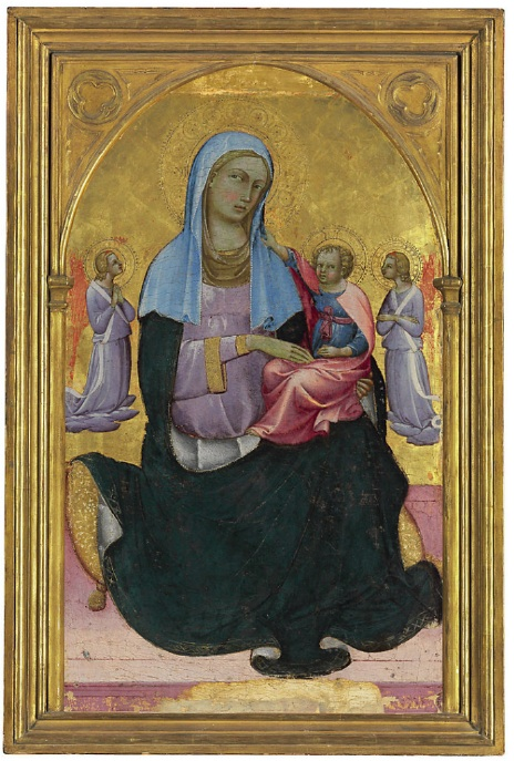 Lot 104. Piero di Giovanni, called Lorenzo Monaco (?1370/75-c.1425/30 Florence) and Workshop The Madonna of Humility with adoring angels  tempera and gold on panel  35¼ x 22 1/8 in. (89.5 x 56.2 cm.)  Estimate: $350,000-500,000.