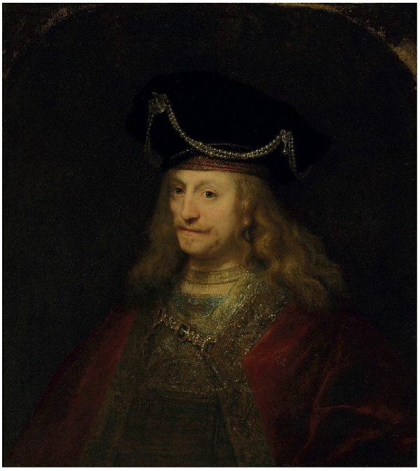 Lot 29. Ferdinand Bol (Dordrecht 1610-1680 Amsterdam)  Portrait of a gentleman, half-length, in a cloak and bejeweled hat  oil on canvas, the upper corners made up  34¼ x 30¾ in. (87 x 78.1 cm.) Estimate: $1.5-2.5 million.